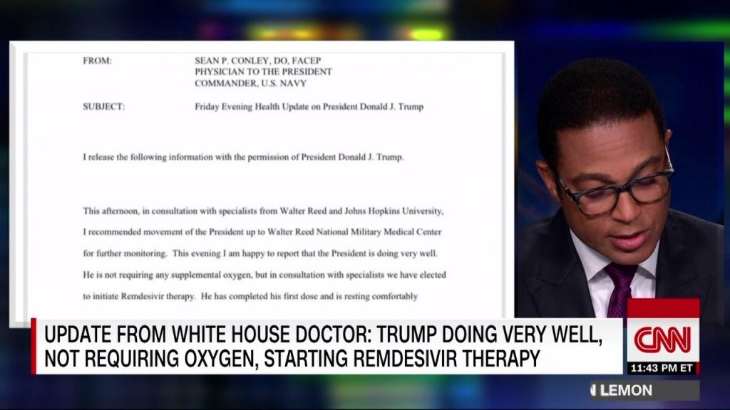 Trump ha comenzado a tomar remdesivir, según la publicación de su médico