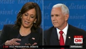 Mike Pence interrumpió a Kamala Harris durante el debate. Así le respondió ella