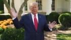 Trump contagiado pública video sin mascarilla
