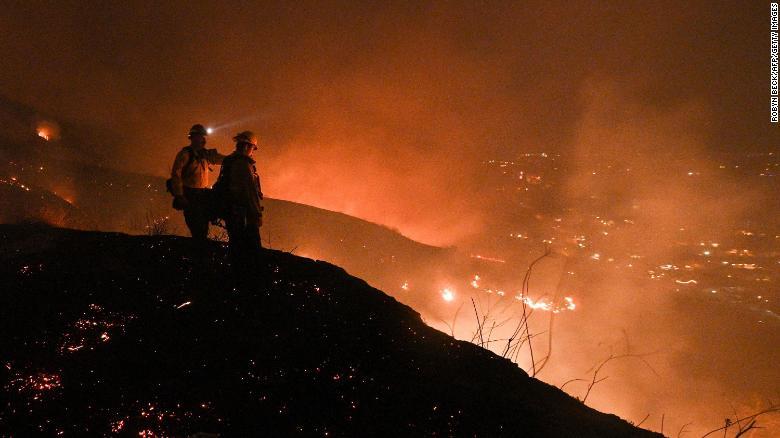 Ordenes de evacuación en California por los incendios
