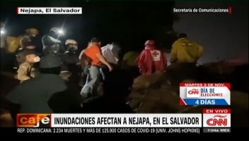 Inundaciones en Nejapa, en El Salvador, provocan deslaves