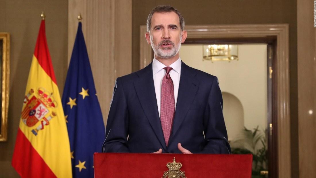 En cuarentena el rey Felipe VI de España por covid-19