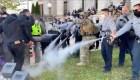 Policía interrumpió marcha de votantes con gas pimienta