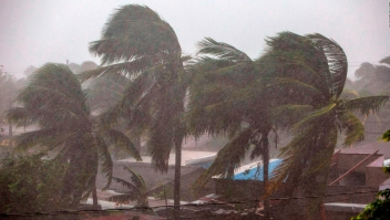 Huracán Eta toca tierra en Nicaragua