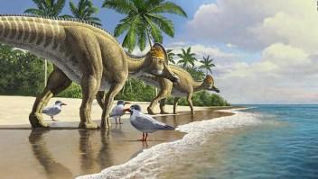 Dinosaurios viajaron a través del océano