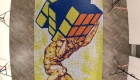 Artista crea mosaico con 6.000 cubos de Rubik