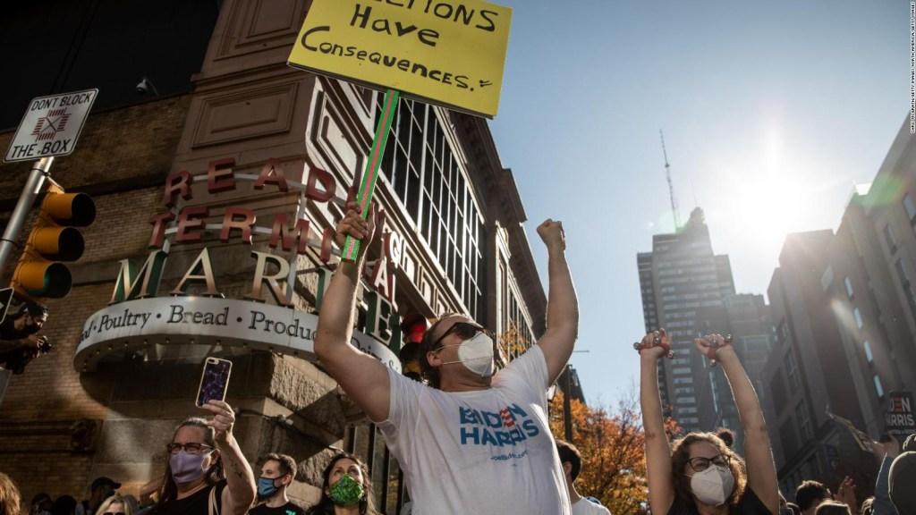 Miles salen a las calles a celebrar la victoria de Biden