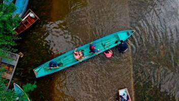 Alcaldesa defiende a AMLO por inundar poblados indígenas