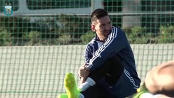 Argentina, atenta al estado físico de Lionel Messi