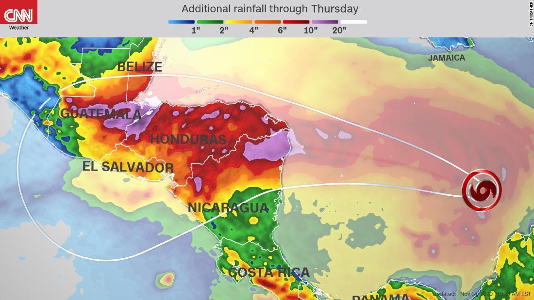 Iota golpeará Centroamérica como un gran huracán