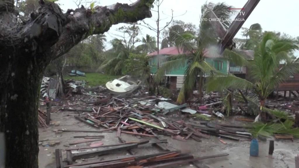 Residente describe la furia de Iota en Nicaragua