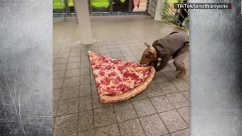 """""""Pizza Rat Man"""", la nueva celebridad de Nueva York"""