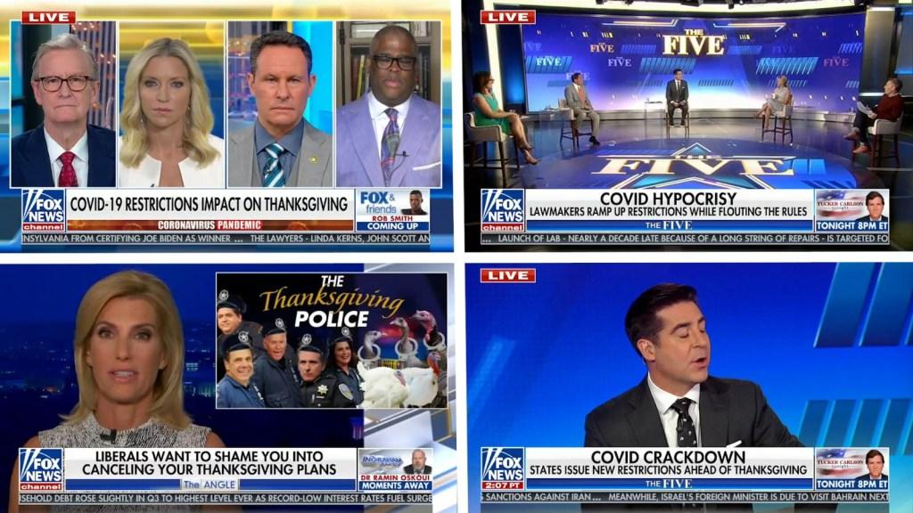 Fox News se burla de la guía de salud para el Día de Acción de Gracias
