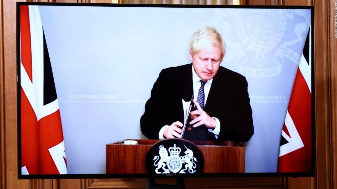 Boris Johnson habla sobre las restricciones por covid-19