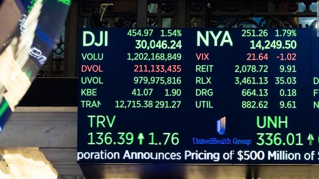 El Dow Jones hace historia al rebasar los 30.000 puntos