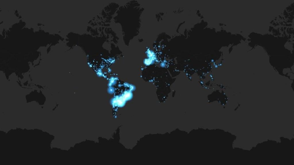 Homenaje a Maradona: el mapa de repercusiones en Twitter