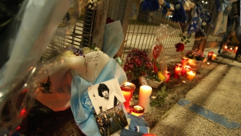 El adiós a Diego Maradona en Nápoles