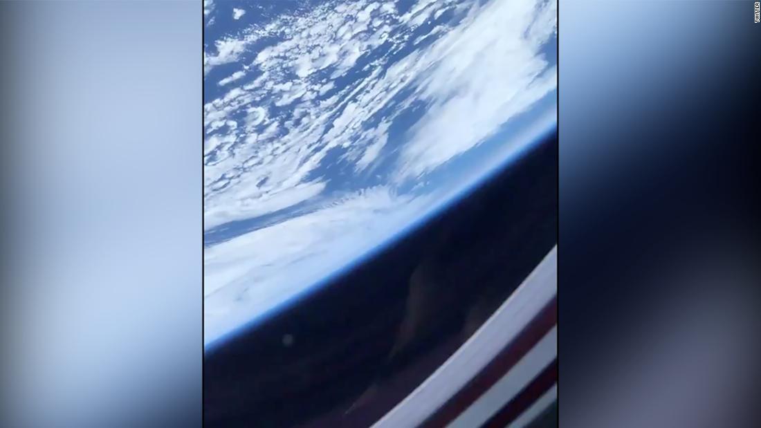 La vista de la Tierra desde la cápsula de SpaceX