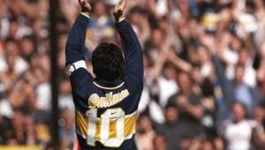 El palco de Maradona brilla solo en la Bombonera