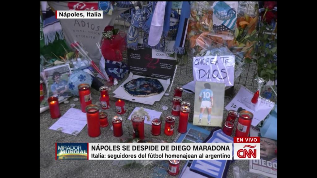 Devoción por Maradona en Nápoles