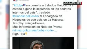 Cuba acusa a EE.UU. de financiar a disidentes