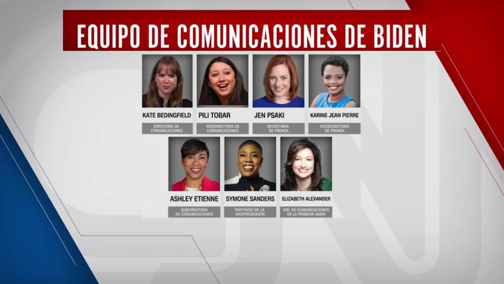 Biden elige mujeres para la comunicación de la Casa Blanca