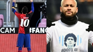 Diego Maradona: Messi, Neymar y otras figuras le rinden homenaje en la cancha
