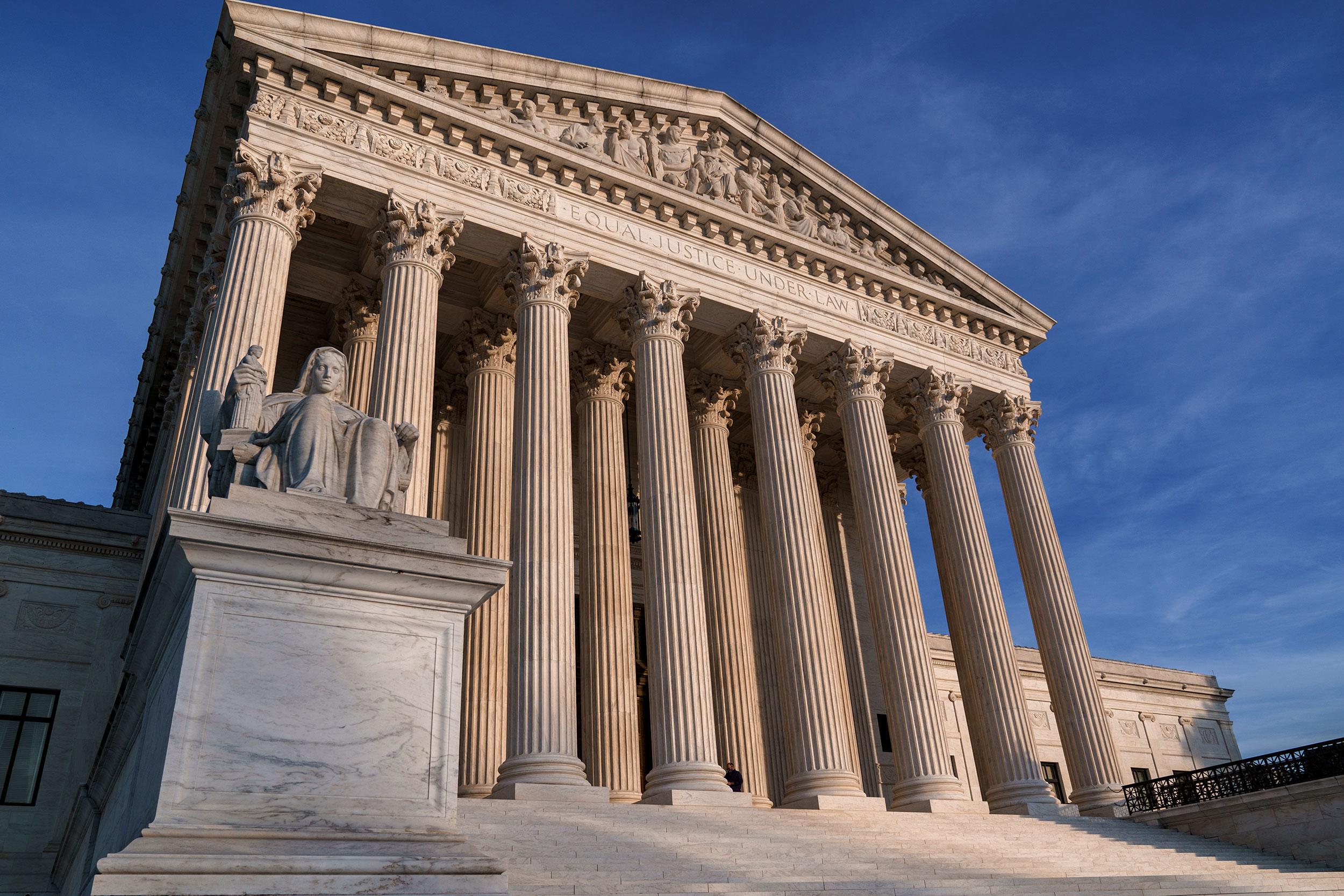 La Corte Suprema no está siendo evacuada