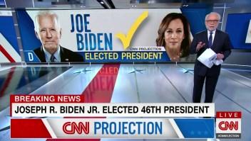 Así anunció CNN en inglés la victoria de Biden