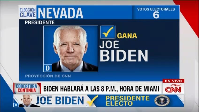 Joe Biden y Kamala Harris ganan Nevada