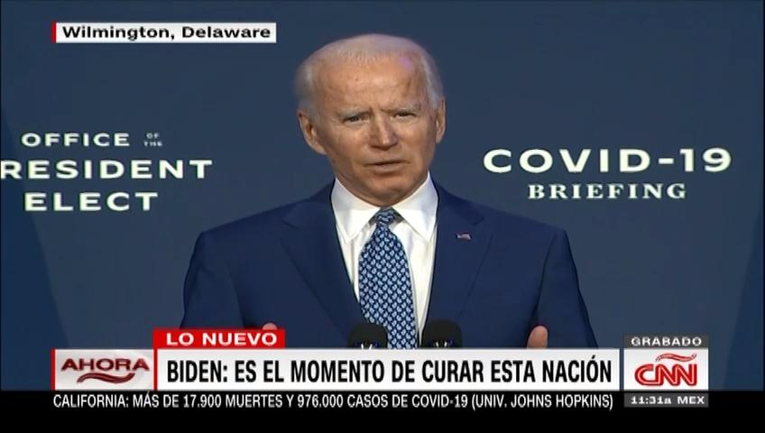 Biden anuncia la creación de un consejo contra Covid-19