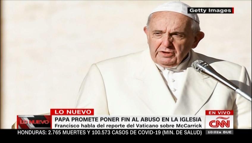 Francisco promete poner fin al abuso en la Iglesia