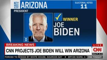 Así anunció CNN que Joe Biden ganará Arizona, según proyecciones
