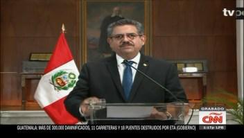 Manuel Merino, presidente interino de Perú, renunció tras cinco días en el cargo