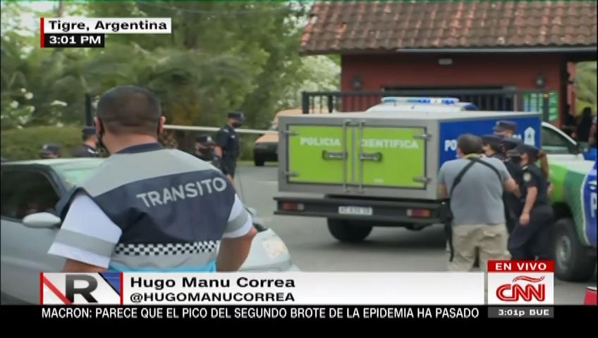 Fiscales y periodistas llegan al lugar donde murió Maradona