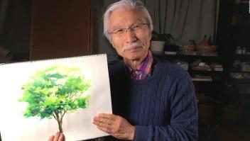 Abuelo y pintor se vuelve sensación en YouTube