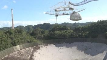 Observatorio de Arecibo colapsa previo a su demolición