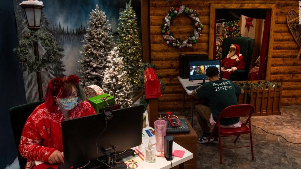 Ahora Santa Claus habla con los niños en forma virtual