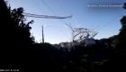 El momento del colapso del Observatorio de Arecibo