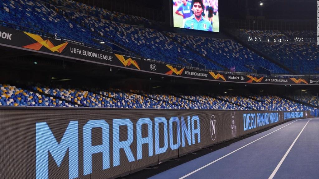 Nápoles da a Maradona un especial homenaje