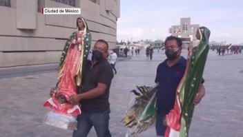 Acuden a visitar a la Virgen de Guadalupe previo a su día