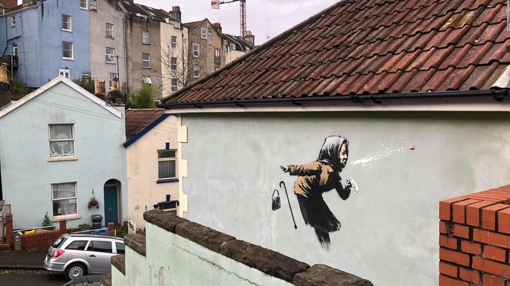Aparece nueva obra de Banksy en Inglaterra