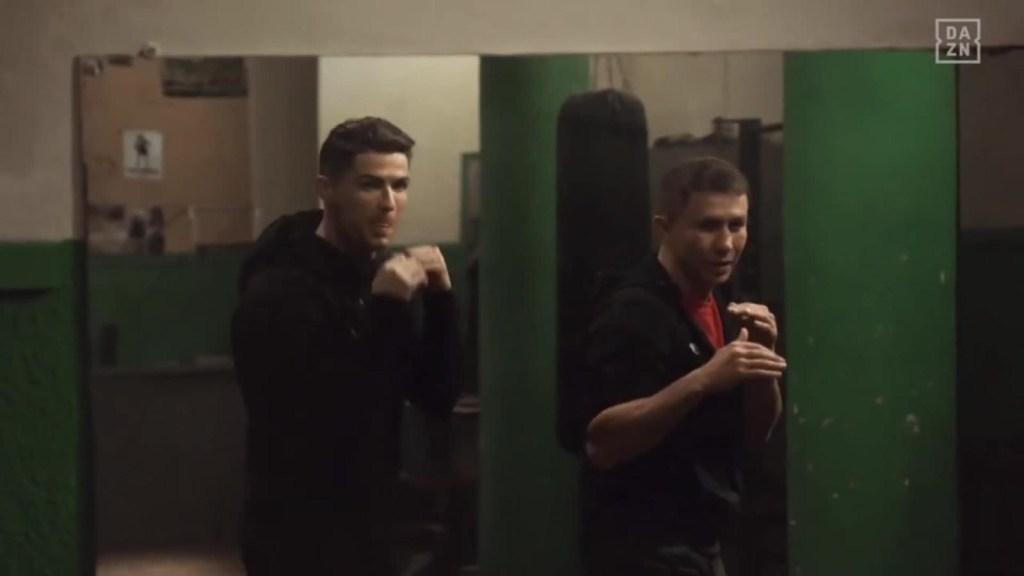 Cristiano Ronaldo aprende a boxear con Gennady Golovkin