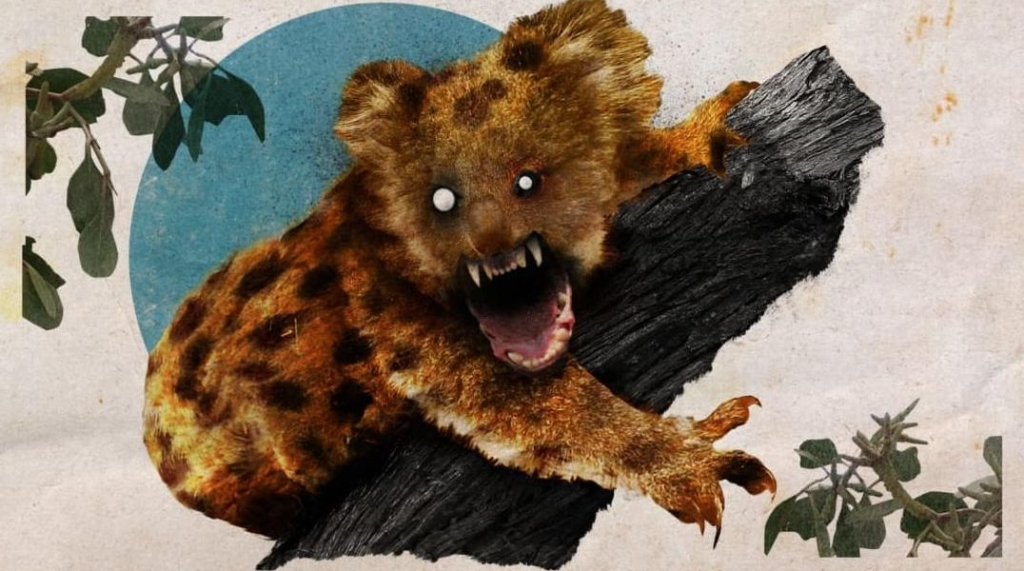 Australia bromea con un peligroso y falso depredador