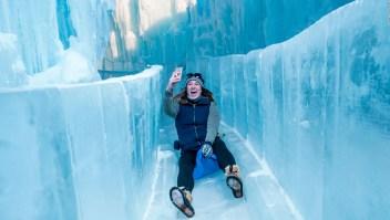 Castillos de hielo, una atracción para amantes del frío