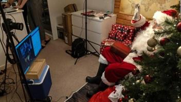 Santa Claus trabaja de nuevas formas durante la pandemia