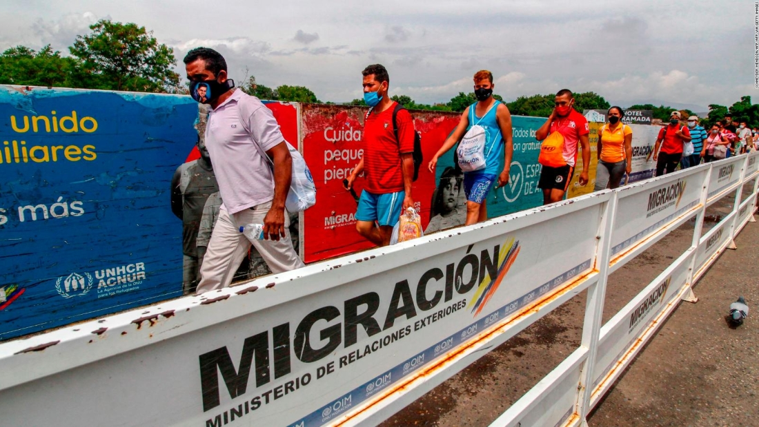 Venezolanos frontera Colombia migrantes