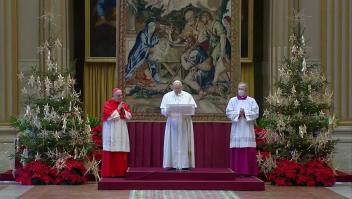 El papa Francisco dio su mensaje de Navidad sin público