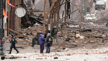 """""""Sonó como un rayo"""" recuenta un residente sobre la explosión en Nashville"""