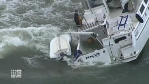 Rescatan a navegante en el océano Pacífico